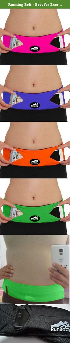 Running Belt - Best for Exercise / Workout - Waterproof, Machine Washable/ Dryable - Expandable, Adjustable & Reflective - by Run Baby Sport. The Run Baby Super Soft Running Belt is a really simple but revolutionary product to go hands free. Made of machine-washable high tech Spandex-Lycra blend material with an internal pocket system accessible from four openings around the belts exterior. The zipperless two pouch type pockets let you easily tuck in your phone, keys, gel packs, credit…