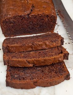Chocolate Banana Bread- This turned out amazing!  I definitely think this is my new favorite banana bread recipe.  Very decadent.  My family loved it. :)