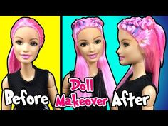Ariana grande hair tutorial for barbie doll how to make barbie kylie jenner hair for barbie doll barbie haircut and reroot diy making kids winobraniefo Image collections