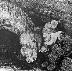 """""""Dobbin abd the Goblin"""" Theodor Kittelsen 1905"""