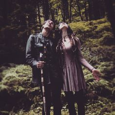 Forest lurkers forever #husbandandwife #themakers #wolftea #forest #nature #woods