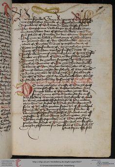 Cod. Pal. germ. 4 Rudolf von Ems: Willehalm von Orlens ; Dietrich von der Glesse: Der Gürtel (Borte) ; Peter Suchenwirt: Liebe und Schönheit