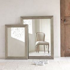 Our Cinders is a classic mirror with an antique feel to it. It has an ashy, cinder-like finish with nailed details in the corner. Available in two sizes. Handmade Mirrors, Comfy Sofa, Metal Mirror, Cinder, Beautiful Wall, Sweet Home, Lounge, Interior Design, Antiques