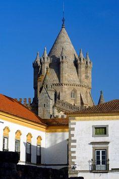 Cathedral de santa Maria - in Evora, World Heritage city.Portugal
