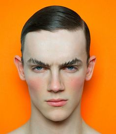 Male models and men's fashion men with makeup, men makeup, runway makeup, makeup Male Makeup, Models Makeup, Makeup Art, Makeup For Men, Editorial Hair, Beauty Editorial, Male Editorial, Fashion Editorial Makeup, Portrait Inspiration