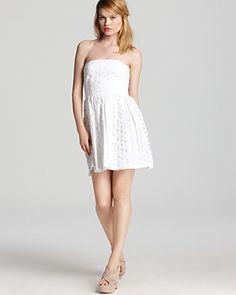 Aqua Dress - Large Eyelet Exposed Zip | Bloomingdale's