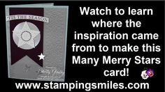 Where did the inspiration for my Stampin' Up! Many Merry Stars card come from?  Watch to see!  Order Stampin' Up! Many Merry Stars Stamp Set in my online store http://www.shopwithshelly.com