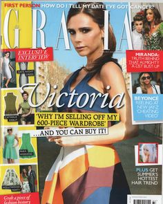 Grazia August 11th - Merchant Archive Merchant Archive AW14 Rust Tiger Gown featured in a Kate Bush and vintage inspired Grazia edit by Stylist Aldene Johnson.