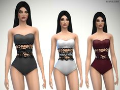The Sims Resource: Lace Swimsuit by Puresim • Sims 4 Downloads