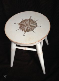 Compass Stool project with imge transfer