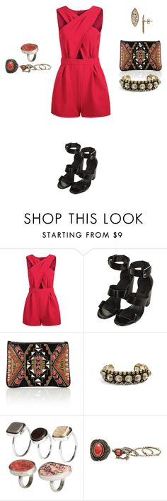 """""""Untitled #585"""" by elenekhurtsilava ❤ liked on Polyvore featuring Topshop, Matthew Williamson, DANNIJO, H&M, Wet Seal and Melinda Maria"""