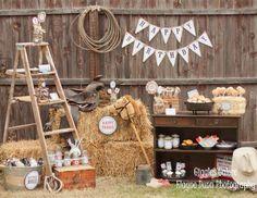 "Western/Cowboy / Birthday ""Classic Cowboy Birthday Party"" | Catch My Party"