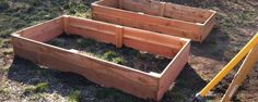 Building raised garden beds . . the $25 ea edition. . . with complete instructions.