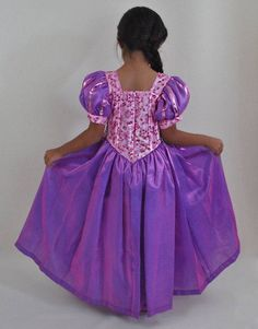 Tangled Dress, Rapunzel Dress, Disney Princess Rapunzel, Ball Dresses, Ball Gowns, Girls Dresses, Cinderella Dress For Girls, Disney Diy, Girl Costumes