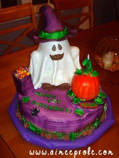Ghost Cake (1st birthday pumpkin is a smash cake)