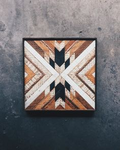 "Anuva Sharma - Wall Art - 20""x20"" Made from reclaimed house wood from Nashville, TN & textured copper"