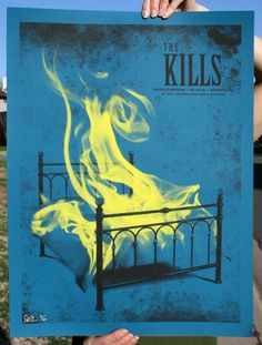 Amazing 2-color screen print for The Kills by Todd Slater