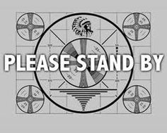 TV test pattern from the good-bad old days. Remember when television sets signed off at midnight. for the night!