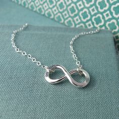 Infinity Necklace in Sterling silver by Laladesignstudio on Etsy, $50.00