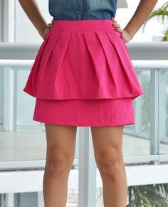 Trendy Clothing, Fashion Shoes, Women Accessories | Peplum Fuchsia Skirt | LoveShoppingMiami.com