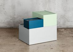 Joanna Laajisto bases storage boxes on paper-sizing system