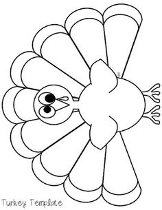 Turkey coloring page Fonts and