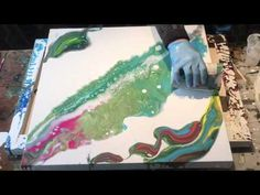 Watch Me Paint This Abstract Painting - YouTube