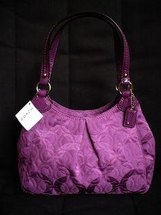 Coach Gramercy Op Art?..this plumlike color makes a tear run down my face. I love this bag!