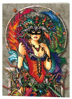 Peacock Art...Peacock Mask...By Artist Linda Ravenscroft...