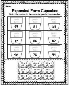 Expanded Form Worksheets Cut and Paste worksheet for or classrooms. Teaching Second Grade, Second Grade Teacher, 3rd Grade Classroom, 1st Grade Math, Teaching Math, Teaching Ideas, Creative Teaching, Expanded Form Worksheets, Math Worksheets