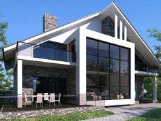 Дом из газобетона - МонтажЭнергоРесурс Cyprus Hotels, Home Exterior Makeover, Facade House, Modern Architecture, Future House, Living Spaces, House Plans, Sweet Home, Cottage