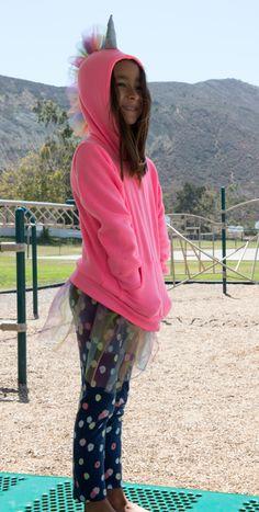 Original, customized kid's hoodie with tulle skirt and handcrafted features! #momo #monsters #kidstyleDIY #parentapproved #hoodies #kidscreate #backtoschool #kidtech #kidgadgets