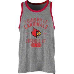 5563275ac Louisville Cardinals NCAA Tri-Blend Mank Ringer Mens Tank Top Louisville  Cardinals