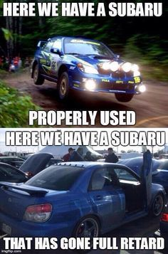 (Funny Memes) gallery index Car Jokes, Truck Memes, Funny Car Memes, Car Humor, Subaru Forester, Subaru Impreza, Sti Subaru, Subaru Rally, Subaru Baja