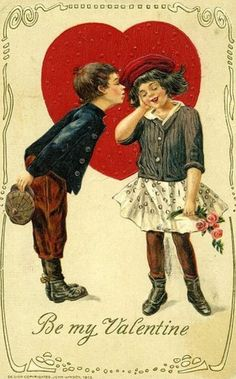 ♡ Your Heart is Mine, Valentine ♡  vintage valentine card