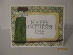 Happy Father's Day w/ Golf Bag by Kalla Walla - Cards and Paper Crafts at Splitcoaststampers