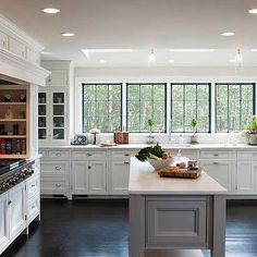 Stove Alcove, Transitional, kitchen, Crown Point Cabinetry