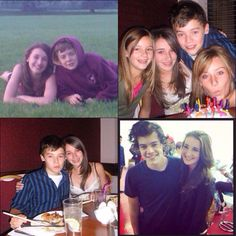 Harry with his first girlfriend, then and now. I cant get over this, its so cute. >>> Totally 100% shipped !!!!
