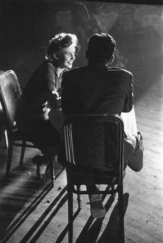 U.K. A couple chatting in the Hammersmith Palais dance hall, London. Wartime Dance Hall, 1944 // Photo by Leonard McCombe