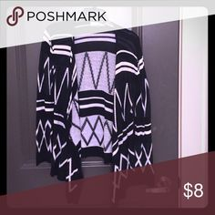 Black & white cardigan Long sleeve cardigan Say What? Sweaters Cardigans