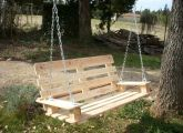 Wonderful uses for pallets, e.g Outdoor swing, wine rack, tables and more :)