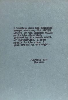 Sexy Gifts Romantic Love Poems Typewriter Poetry by Christy Ann Martine on Etsy #christyannmartine
