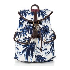 Palm Rucksack featuring polyvore, fashion, bags, backpacks, palm tree backpack, drawstring backpack bags, knapsack bags, drawstring bag and backpacks bags