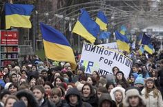 Anti-government protest in Ukraine Russia made its land grab in Crimea because it could and there is no doubt the unsavoury nature of the Ukrainian putsch and its economic hopelessness will become more apparent in the coming months.