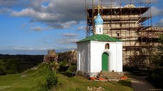 Russian orthodox chapel near the ancient Izborsk fortress.