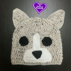 Affordable one of a kind, Crocheted Light Blue Merle Corgi Beanie made by Jessica Radcliff at Crochet It Quick on Etsy  #corgi #crochet #corgibeanie #buzzfeed #crochetitquick #crocheted #handmade #dogbeanie