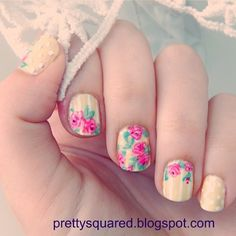 pretty_squared's spring tips! Show us your spring mani & you could be featured on our Pinterest and Instagram! Just use #SephoraSpring