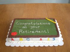 Funny Retirement Cake Sayings | cakes | Pinterest ...