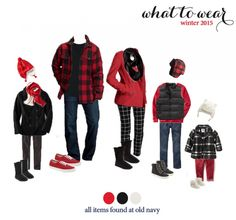 what to wear for winter family photos! very cute holiday looks!