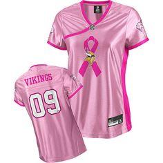 Minnesota Vikings 2009 Breast Cancer Awareness Be Luvd Pink Women NFL  Jersey Jersey Patriots b2434a27f